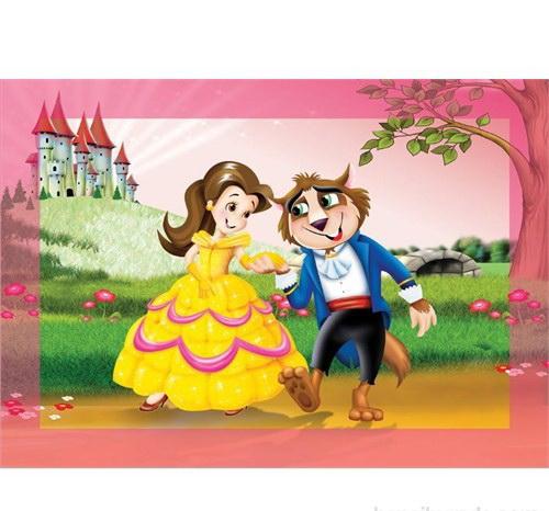 99 Parça Çocuk Yap boz 25x35 Puzzle Keskin Color Puzz Kurt ve Prenses Model 5