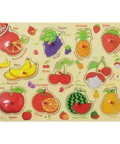 Bu-Bu Ahşap Puzzle Meyveler 30x22