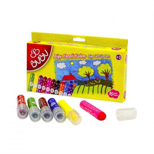 Bu-Bu Keçeli Kalem Bigy 10 Renkli Keçeli Kalem