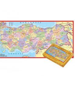 İl İl Türkiye Siyasi Haritası 123 Parça Puzzle Büyük Yap boz 32x68 Keskin Color Puzz