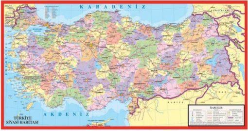 Türkiye Haritası Puzzle Büyük Yap boz 32x68 Keskin Color Puzz