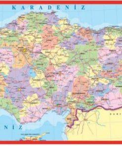 Türkiye Haritası Puzzle Küçük Yap boz 23x47 Keskin Color Puzz