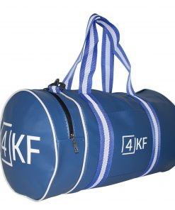 4KF Spor Çantası Klasik Yuvarlak Askılı Silindir Fitness Okul Gezi Gym Çantası Mavi