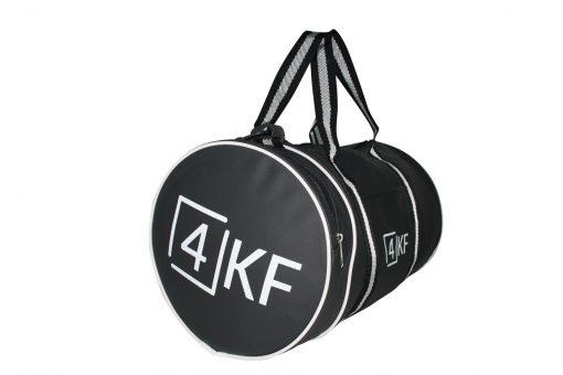 4KF Spor Çantası Klasik Yuvarlak Askılı Silindir Fitness Okul Gezi Gym Çantası Siyah