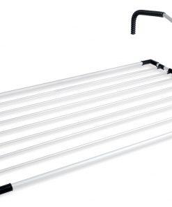Dirsekli Alüminyum Balkon Kurutmalığı Doğrular Kurutmalık Askısı Çamaşır Kurutma Askılığı Perilla 57007