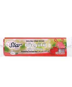 Starplus Çöp Torbası Büzgülü Orta Boy Çilek 120gr 55x60
