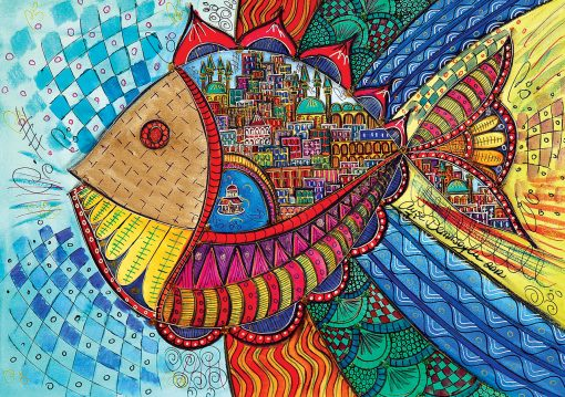 1000 Parça Yap boz Puzzle Balık (11468) 68x48 Ks Games