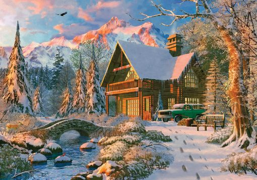 1000 Parça Yap boz Puzzle Winter Holiday (20503) 68x48 Ks Games