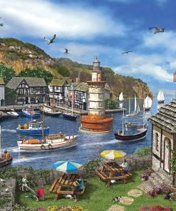 2000 Parça Yap boz Puzzle The Village Harbour (11386) 68x48 Ks Games