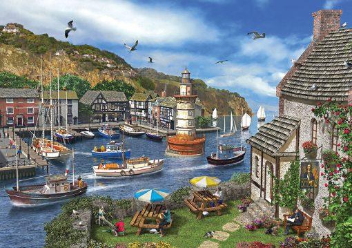 2000 Parça Yap boz Puzzle The Village Harbour (11386) 68x48 Ks Games