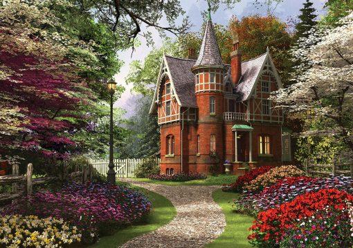 2000 Parça Yap boz Puzzle Victorian Cottage in Bloom (11294) 68x48 Ks Games