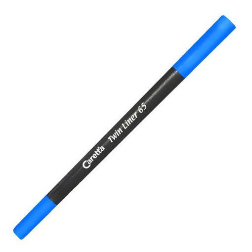 Çift Uçlu Keçeli Kalem Caretta Twin Liner 65 Koyu Mavi Keçeli Kalem Tekli
