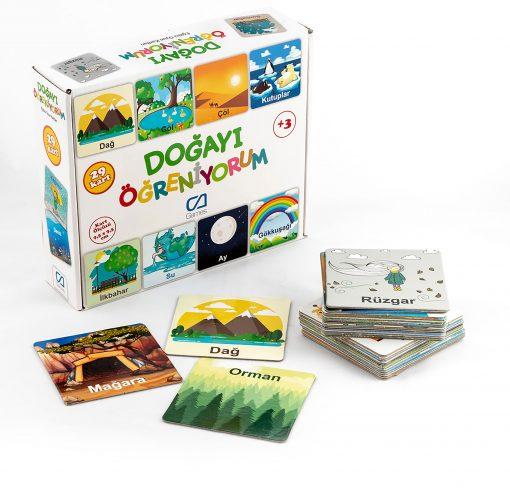 Doğayı Öğreniyorum Eğitici Çocuk Oyunu 29 Parça Oyun Seti Ca Games 5053