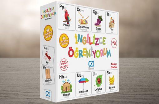 İngilizce Öğreniyorum Eğitici Çocuk Oyunu 52 Kelime Oyun Seti Ca Games 5044