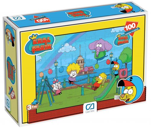 Kral Şakir Puzzle 100 Parça Yapboz Ca Games 5068