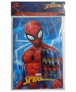 Örümcek Adam Boyama Seti Not Defteri ve Pastel Boyama Kalemleri Spiderman Set