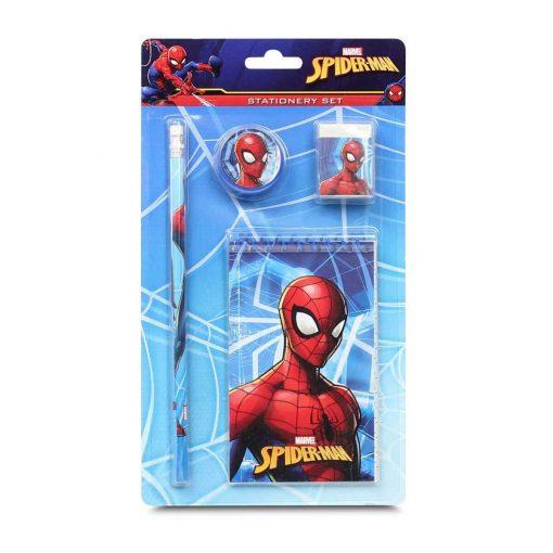 Örümcek Adam Kırtasiye Seti Not Defteri + Kalem + Silgi + Kalemtıraş Set Spiderman