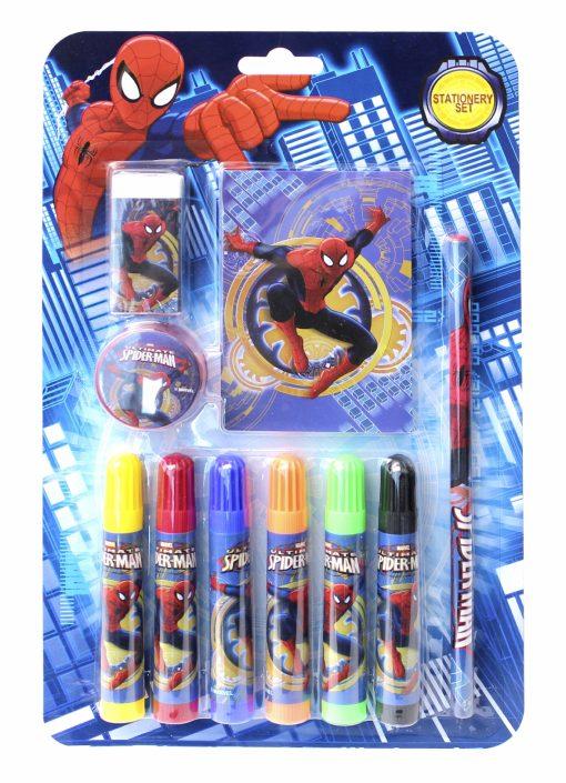 Örümcek Adam Kırtasiye Seti Not Defteri Kalemtıraş Silgi Kurşun Kalem Boyama Kalemleri Spiderman Set