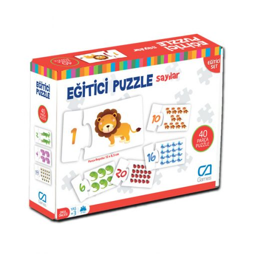 Sayılar Eğitici Çocuk Oyunu 40 Parça Yapboz Puzzle Oyun Seti Ca Games 5031
