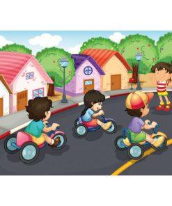 100 Parça Çocuk Yap boz 23.5x33.5 Puzzle Keskin Color Puzz Bisiklet Yarışı Model 2