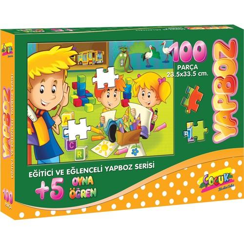 100 Parça Çocuk Yap boz 23.5x33.5 Puzzle Keskin Color Puzz Ders Zamanı Model 10