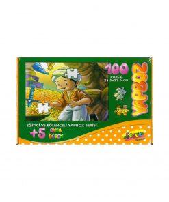 100 Parça Çocuk Yap boz 23.5x33.5 Puzzle Keskin Color Puzz Hazine Model 14