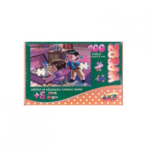 100 Parça Çocuk Yap boz 23.5x33.5 Puzzle Keskin Color Puzz Hazine Sandığı Model 16