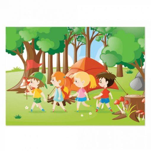 100 Parça Çocuk Yap boz 23.5x33.5 Puzzle Keskin Color Puzz Kamp Model 17