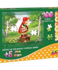 100 Parça Çocuk Yap boz 23.5x33.5 Puzzle Keskin Color Puzz Kırmızı Başlıklı Kız 2 Model 7