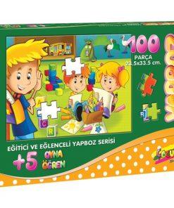 100 Parça Çocuk Yap boz 23.5x33.5 Puzzle Keskin Color Puzz Kırmızı Başlıklı Kız Model 18