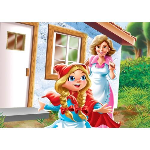 100 Parça Çocuk Yap boz 23.5x33.5 Puzzle Keskin Color Puzz Kız Çocuk Model 13
