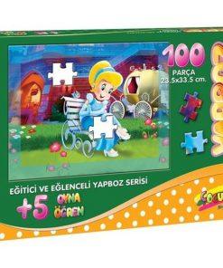 100 Parça Çocuk Yap boz 23.5x33.5 Puzzle Keskin Color Puzz Kül Kedisi Model 6
