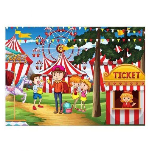 100 Parça Çocuk Yap boz 23.5x33.5 Puzzle Keskin Color Puzz Lunapark 2 Model 19