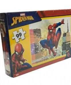 99 Parça Çocuk Yap boz 22x32 Puzzle Keskin Color Puzz Spider-Man