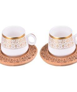 Bambum 2 Kişilik Kahve Takımı Desenli Ottoman B0240