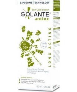 Solante Antiox Güneş Koruyucu Losyon Spf50 150 ml Anti-Aging Özellikli Güneş Koruyucu Krem