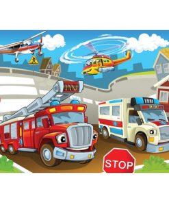 Çerçeveli Puzzle 25x35 100 Parça Keskin Color Kutusuz Yapboz Acil Durum 263100-99-12