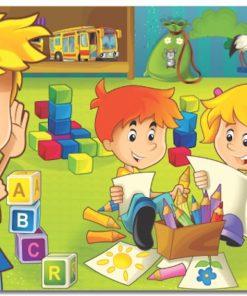 Çerçeveli Puzzle 25x35 100 Parça Keskin Color Kutusuz Yapboz Ders Zamanı 263100-99-10