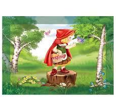 Çerçeveli Puzzle 25x35 100 Parça Keskin Color Kutusuz Yapboz Kırmızı Başlıklı Kız 2 263100-99-02