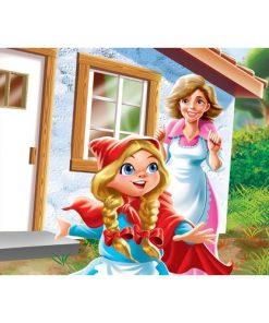 Çerçeveli Puzzle 25x35 100 Parça Keskin Color Kutusuz Yapboz Kırmızı Başlıklı Kız 263100-99-13