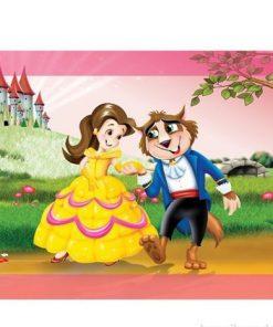 Çerçeveli Puzzle 25x35 100 Parça Keskin Color Kutusuz Yapboz Kurt Ve Prenses 263100-99-01