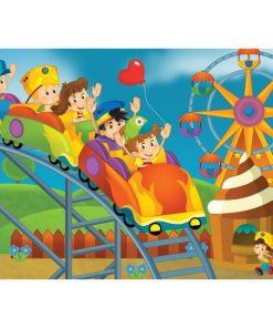 Çerçeveli Puzzle 25x35 100 Parça Keskin Color Kutusuz Yapboz Lunapark 263100-99-11