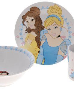 Disney Prensesler Çizgi Karakter Çocuk Yemek Takımı Kase Tabak Kupa Mama Seti