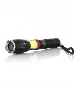 Şarjlı El Feneri 5W T6 Led Kuvvetli Işık 4 Fonksiyonlu Zoomlu El Lambası (Şarj Cihazsız)