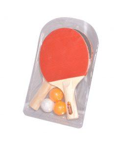 2x Masa Tenisi Raketi + 3x Pinpon Topu Seti Ekonomik Set