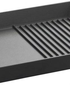 Lava Döküm Demir Izgara Tava Hibrit Metal Kulplu 26x32 cm