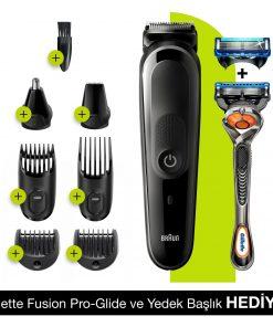 Braun Tıraş Makinesi MGK5260 Islak & Kuru 8 in 1 Saç ve Sakal Şekillendirici + Gillette