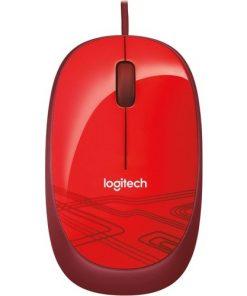 Logitech Mouse M105 Kırmızı Optik Kablolu Mouse